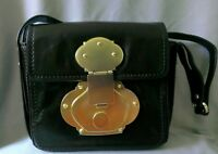 CYNTHIA ROWLEY Brown Leather Bag Large Gold Tone Hardware Small Purse