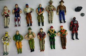 Vintage G.I. Joe Action Figure Lot - 13 figures 2 accessories