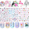 3D Nail Stickers Transfer Decals Star Heart Images Adhesive Nail Art Decoration