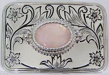 BELT BUCKLES western cabochons gemstones accessories PINK QUARTZ buckle NWOT!