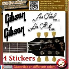 4 stickers autocollant GIBSON LES PAUL GUITARE GUITAR HEADSTOCK rock decal music