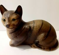 "Vintage Cat Figurine Porcelain Ceramic, ""Japan 7""x 4 1/2"""