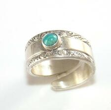 Towle Sterling Silver Blue Turquoise Spoon Ring Band Ring Size 3.5 LDE18