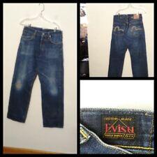44ec7670fa3b Evisu Jeans Men s Custom Buckle Back Made in Italy 31x31 Measured Inv A6764