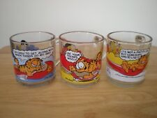 Vintage Collectable McConalds GARFIELD & ODIE Mugs (3)  1978----Excellent-----