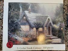 Thomas Kinkade Puzzle 300 Piece Miniature Jigsaw Puzzle Cedar Nook Cottage