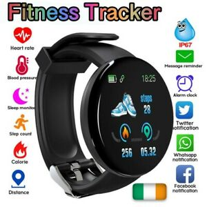 Sports Fitness Smart Watch Waterproof Heart Rate Blood Preasure Bluetooth Fit Ac