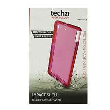 New OEM Tech21 Impact Tactical Case Sony Xperia Z1s Protective Cover Slim Pink