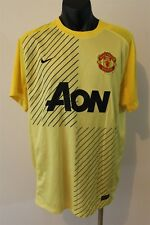 MANCHESTER UNITED FOOTBALL CLUB JERSEY MEN'S LARGE AON PREMIER LEAGUE SOCCER