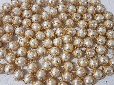 Lot of 50x Brand New Gold and Pearl Vintage sewing buttons