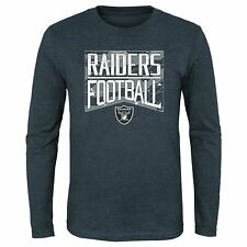 Outerstuff NFL Youth Oakland Raiders Energy Long Sleeve Tee, Charcoal