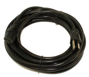 25ft Computer Power Cord (NEMA 5-15P to C13 Plug)  18AWG  Black