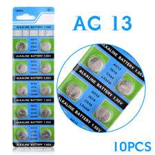 10Pcs AG13 LR44 357A S76E G13 Button Coin Cell Battery Batteries 1.55V Alkaline