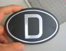 D-PLATE CAR BADGE VW SPLIT OVAL COX MERCEDES 300 190 SL BMW NOS