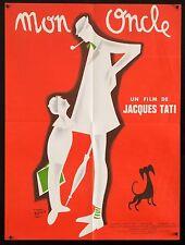 "MON ONCLE  Jacques Tati French 23""x30"" RI poster Filmartgallery"