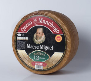 """Manchego DOP """"Reserva"""" cheese AGED 12 MONTHS - Whole Wheel of 6.5 pounds"""