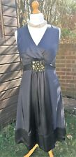 Phase Eight 100% Silk Occasion Dress - Slate Grey Two-tone - UK 12 - Worn Once