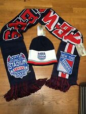 2014 NY Rangers Reversible Winter Hat & Scarf Stadium Series Reebok Set NEW NWT!