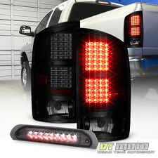 Smoke 2002-2006 Dodge Ram 1500 03-06 2500 3500 Tail Lights+LED 3rd Brake Light