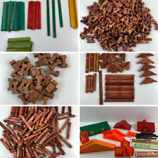 New ListingLincoln Logs Huge Lot Over 700 Pieces Roofs Some Halsom Square Logs!
