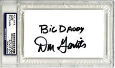 Don Garlits SIGNED 3x5 Index Card + Big Daddy NHRA Drag Race PSA/DNA AUTOGRAPHED