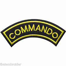 Commando Team Police Swat Tactical Military Combat Assault Iron-On Patches #P014