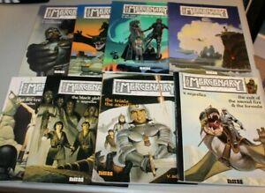 RARE Complete Set Mercenary GN 1-8 1985 Segrelles Heavy Metal Corban Conan like