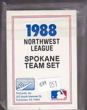 1988 PROCARDS MINOR LEAGUE BASEBALL SPOKANE TEAM SET NMMT/MINT *T051