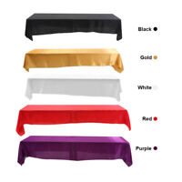 Fine Polyester Rectangle Tablecloth For Wedding Party Banquet Events