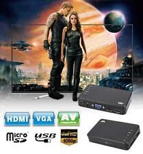 Full HD 1080P 3 Outputs HDMI/VGA/AV USB &SD Card MiNi Multi Media Player TV BOX