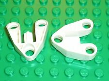 2 x LEGO TECHNIC White Connector Block ref 111 / Set 8008 65081 8009 9748 8715..