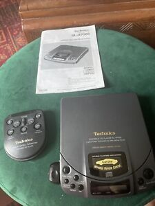 Technics SL-XP505 Portable CD Player Black  Vintage UK RARE UNTESTED