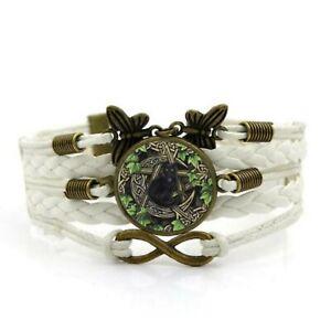 schmuck Armband Vintage Hippie Armschmuck Alternativ katze weiß