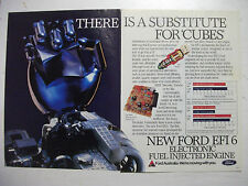 FORD XE FALCON EFI 6 THERE IS A SUBSTITUTE FOR 'CUBES' 2 PAGE ADVERTISEMENT