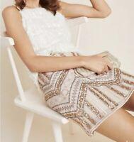 NWT Anthropologie Darla Embellished Mini Skirt Size 6 B-439