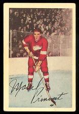 1952-53 PARKHURST HOCKEY #61 MARCEL PRONOVOST VG-EX DETROIT RED WINGS CARD