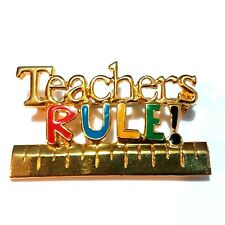 Rule Brooch R09 Alexis Reed Pin Teachers