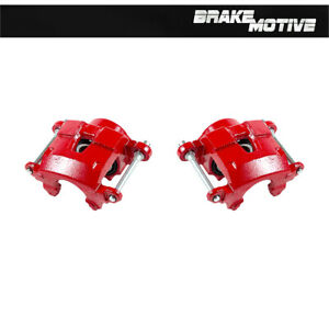 Front Red Brake Calipers For S10 Blazer Pickup Regal Camaro Monte Carlo Firebird