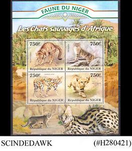 NIGER - 2013 AFRICAN WILD CATS / MAMMALS MIN/SHT MNH