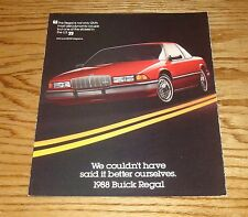 Original 1988 Buick Regal Foldout Sales Brochure 88