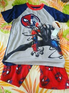 Marvel Avenger Spider-Man Maximum Venom Super Hero Pajama Shorts Set, Size Large