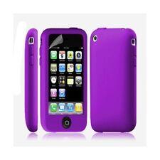 Housse coque étui silicone avec bouton tactile pour Apple Iphone 3G/3GS couleur