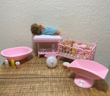 VIntage Imco  Baby Doll Furniture & Accessories Includes Mattel Baby Dolls 1978