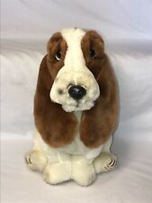 "Hush Puppies Sad Basset Hound Vintage Plush 10"" Tall Spotted"