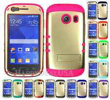 Hybrid Silicone Cover Case for Samsung Galaxy Ace Style S765c - Champagne Gold