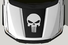 Vinyl Decal Wrap Kit fits 2015-2017 Ford F-150 Hood Graphic PUNISHER Matte Black