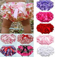 Infant Newborn Baby Girl Ruffle Bottoms PP Pants Kids Nappy Diaper Cover Panties