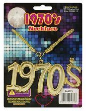 1970's COLLANA FEBBRE DA DISCOTECA Bling oro accessorio del vestito operato
