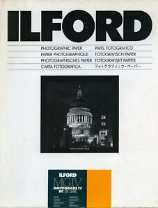 "Ilford Multigrade IV RC Deluxe Satin 9.5x12"" (24x30.5cm ) 50 sheets"