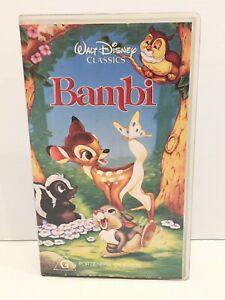 VHS Disney BAMBI Animated